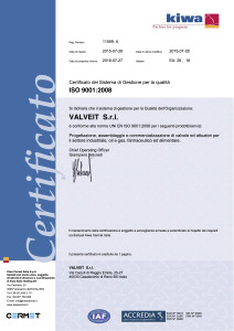 ISO9001 QMS Certificate