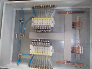 Pneumatic cabinets for valves. Application SWRO. Customer Sonede - Tunisia