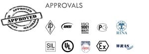 Valve range - Approvals