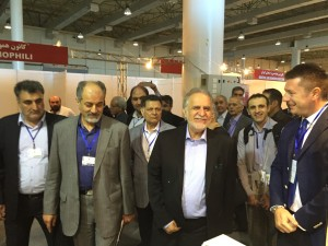 Mr. Mehdi Karbasian (Chairman of IMIDRO) visits valveIT booth meeting CEO Mr.Massimiliano Cangini